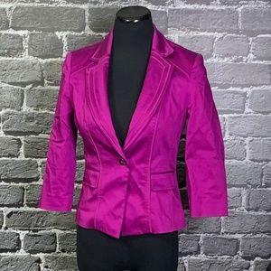 White House Black Market Fuchsia Blazer Jacket 2
